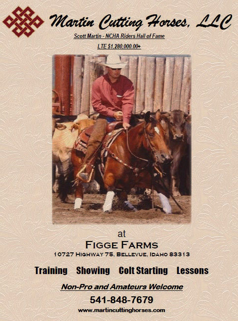 Welcome Scott Martin and Martin Cutting Horses at Figge Farms!